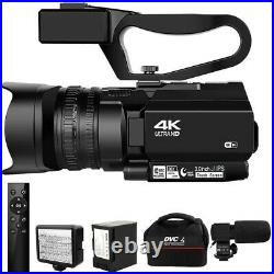 Camcorder 4K Ultra HD 48MP Video Camera for YouTube Live Streaming 30X Digital