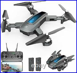 DEERC D10 Foldable Drone with Camera for Adults 720P HD FPV Live Video, Tap Fly