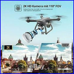 Eanling FPV Drone HS700D with 2K HD Camera Live Video and GPS Return Home, RC Qu