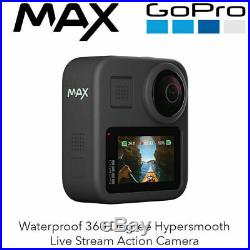 GoPro MAX Waterproof 360 Degree Hypersmooth Live Stream Action Camera