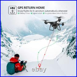 Holy Stone 2K GPS FPV RC Drone HS100 with HD Camera Live Video and Black