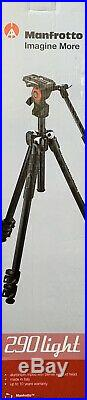 Manfrotto 290 Light Aluminum Tripod with Befree Live Fluid Video Head Kit