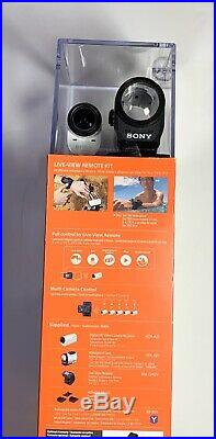 NEW Sony HDRAZ1VR/W Action Camera Mini Kit with Live View Remote-WHITE