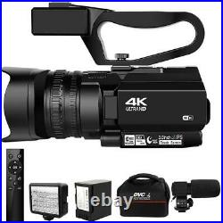 New 4k Ultra Hd 48mp Video Camera Live Streaming 30x Digital Zoom Touch Screen