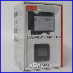 Original SONY FDR-X3000R 4K Aciton Video Camcorder with Live-View Remote White