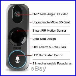 RCA HSDB2A RCA Home Security Wifi Doorbell Camera 3MP HD Video Night Vision Live