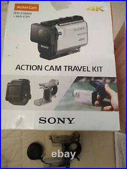 Sony 4k Action Cam With Lots Of Accessories, live view, Boxed With Instructions