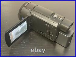 Sony FDR-AX53 4K Camcorder with Long Life Battery Compete with Original Box