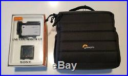 Sony FDR-X3000 4K UHD Action Camera with Live View Remote FDR-X3000R and Extras