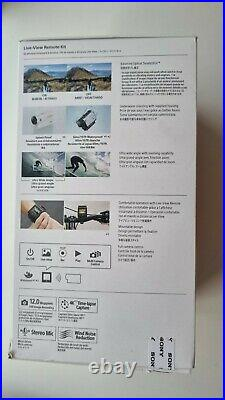 Sony FDR-X3000R 4K, Live View Remote Kit, Lens Cover, 5 bateries, Waterproof Case