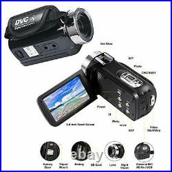 Video Camera with Microphone 4K Camcorder for Live Streaming Webcam Video Rec
