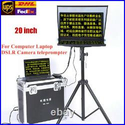 YISHI 20inch Teleprompter For Computer Laptop DSLR Camera News Live Interview